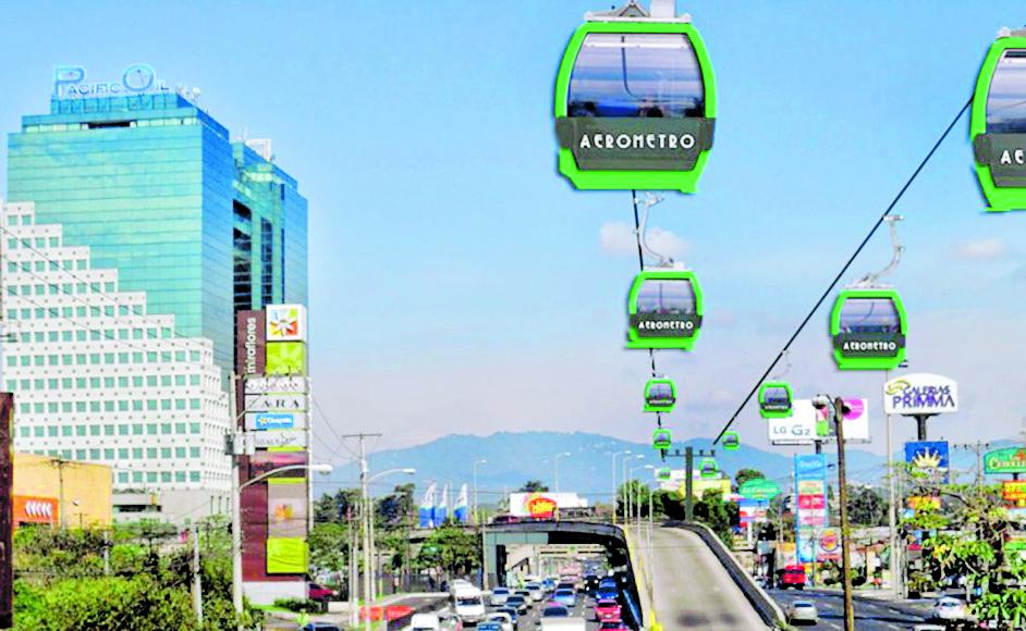 El aerometro pretende aliviar la carga vehicular que hay en la ciudad. (Foto Prensa Libre: Hemeroteca PL)