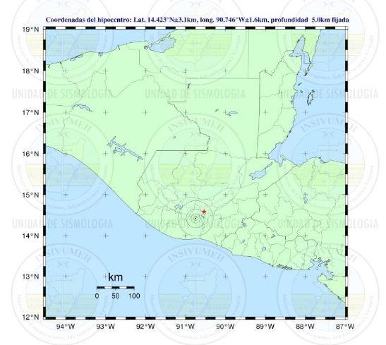 El epicentro se registró en cercanías a Antigua Guatemala. (Foto: Insivumeh)