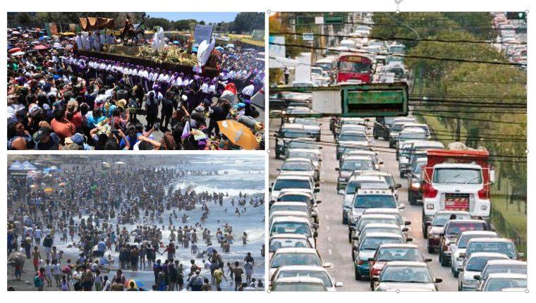 Se espera alta alfuencia de personas en actividades masivas durante la Semana Santa. (Fotos Prensa Libre: Hemeroteca PL)