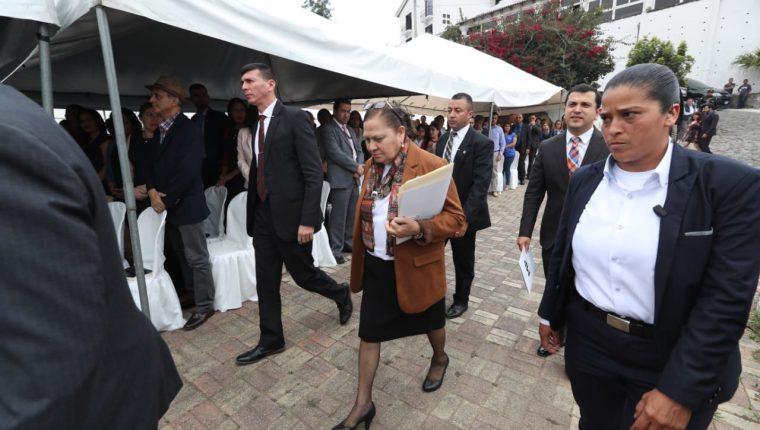 María Consuelo Porras, fiscal general. (Foto Prensa Libre: Esbin García)