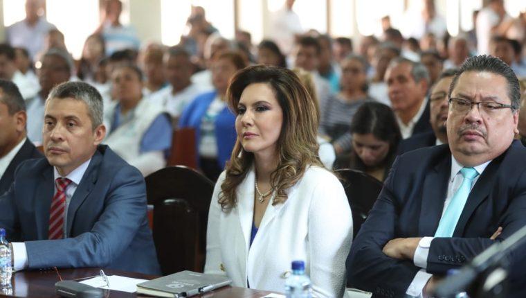 La candidata presidencial Zury Ríos Sosa expuso ante la CC los argumentos que le permitan participar en el proceso electoral. (Foto Prensa Libre: Hemeroteca PL)