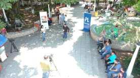 Cabildo Abierto de Prensa Libre y Guatevisión estuvo en el parque central de Mazatenango, Suchitepéquez. (Foto Prensa Libre: Rolando Miranda)
