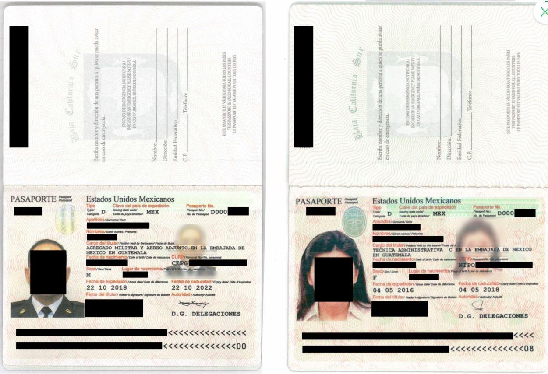 Captura de pantalla del sitio web TechCruch.com de documentos descargados por un pirata informático de la embajada de México en Guatemala.