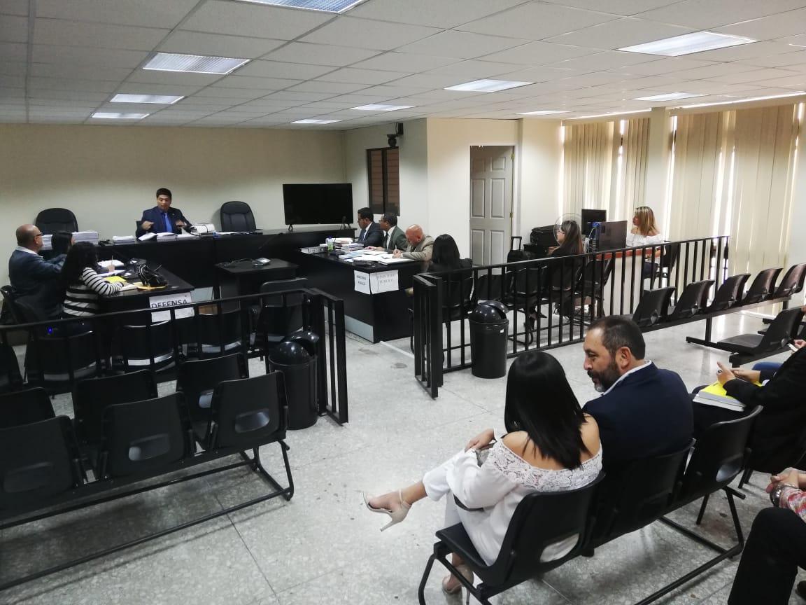 En el Juzgado Tercero Penal se discutieron excepciones por un caso de corrupción que involucra al exministro de Gobernación, Mauricio López Bonilla. (Foto Prensa Libre: Kenneth Monzón)