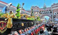Procesión de Jesús Nazareno de la Buena Muerte de Santo Domingo. El Nazareno Dominicio es uno de los que más crecimiento ha tenido los últimos año en su cortejo procesional.   ÓSCAR RIVAS 04 03 2018