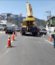 En el kilómetro 14 de la ruta al Pacífico se construye el túnel. (Foto Prensa Libre: Dalia Santos)