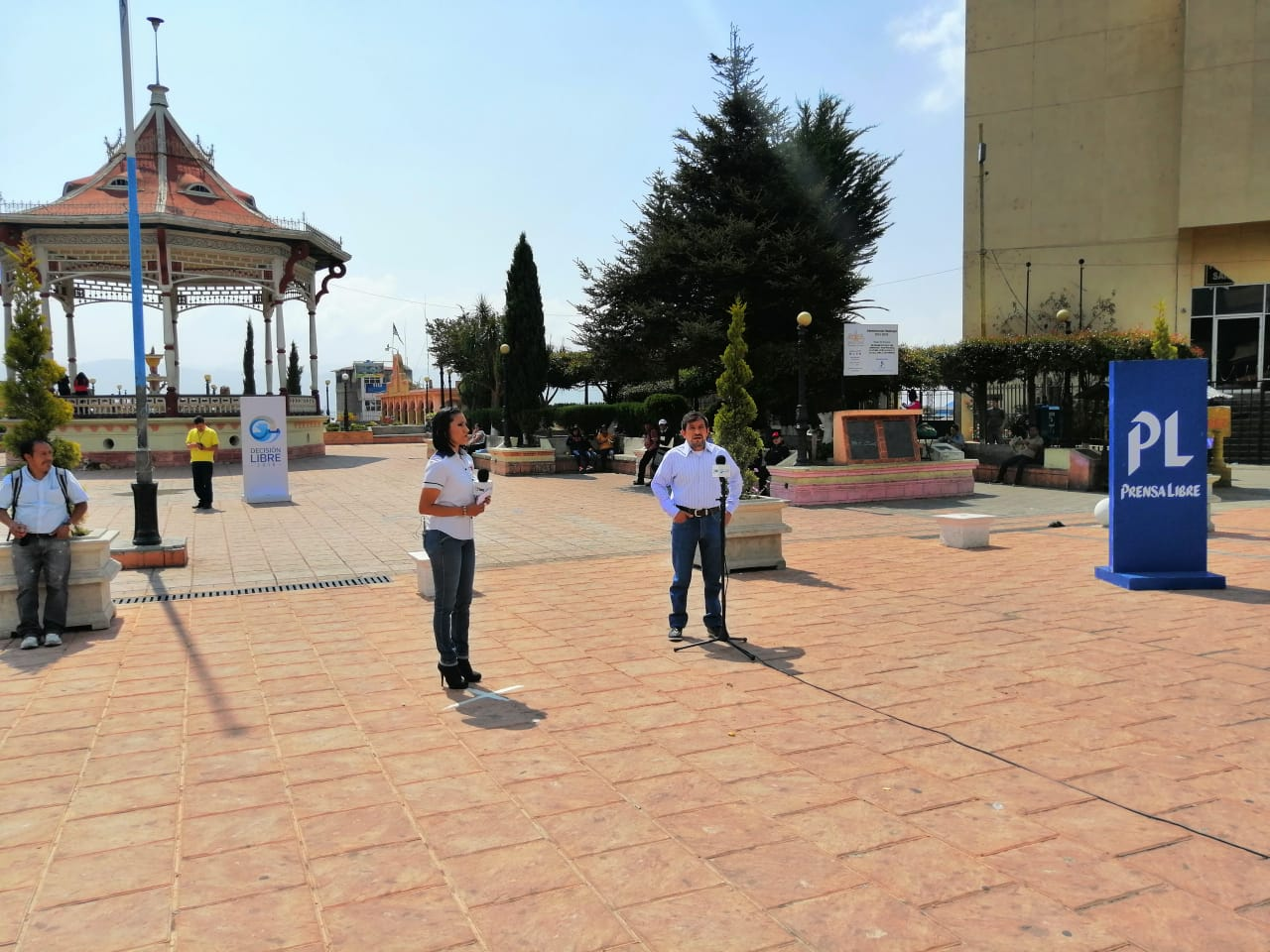 Vecinos de San Marcos participaron en Cabildo Abierto de Prensa Libre y Guatevisión. (Foto Prensa Libre: Whitmer Barrera)