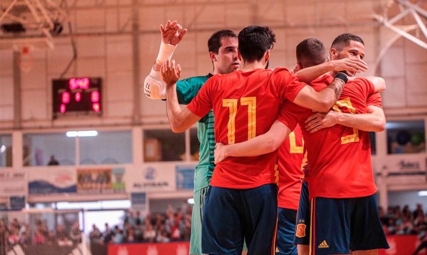 España fue implacable contra la Selección de futbol sala de Guatemala. (Foto Prensa Libre: Tomada de RFEF)