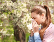 Con la llegada de la época de floración las personas con alergias sufren de estornudos, el escozor en la nariz y el lagrimeo.  Foto Prensa Libre: Servicios.