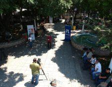 Cabildo Abierto de Prensa Libre y Guatevisión estuvo este viernes en el parque central de Mazatenango, Suchitepéquez. (Foto Prensa Libre: Rolando Miranda)