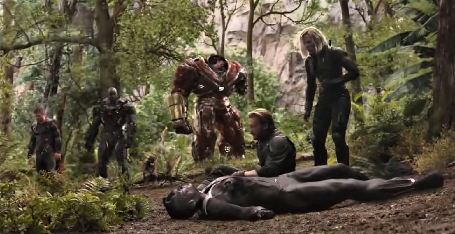 Imagen de una de las escenas finales de la cinta Avengers: Infinity War. (Foto Prensa Libre: YouTube)