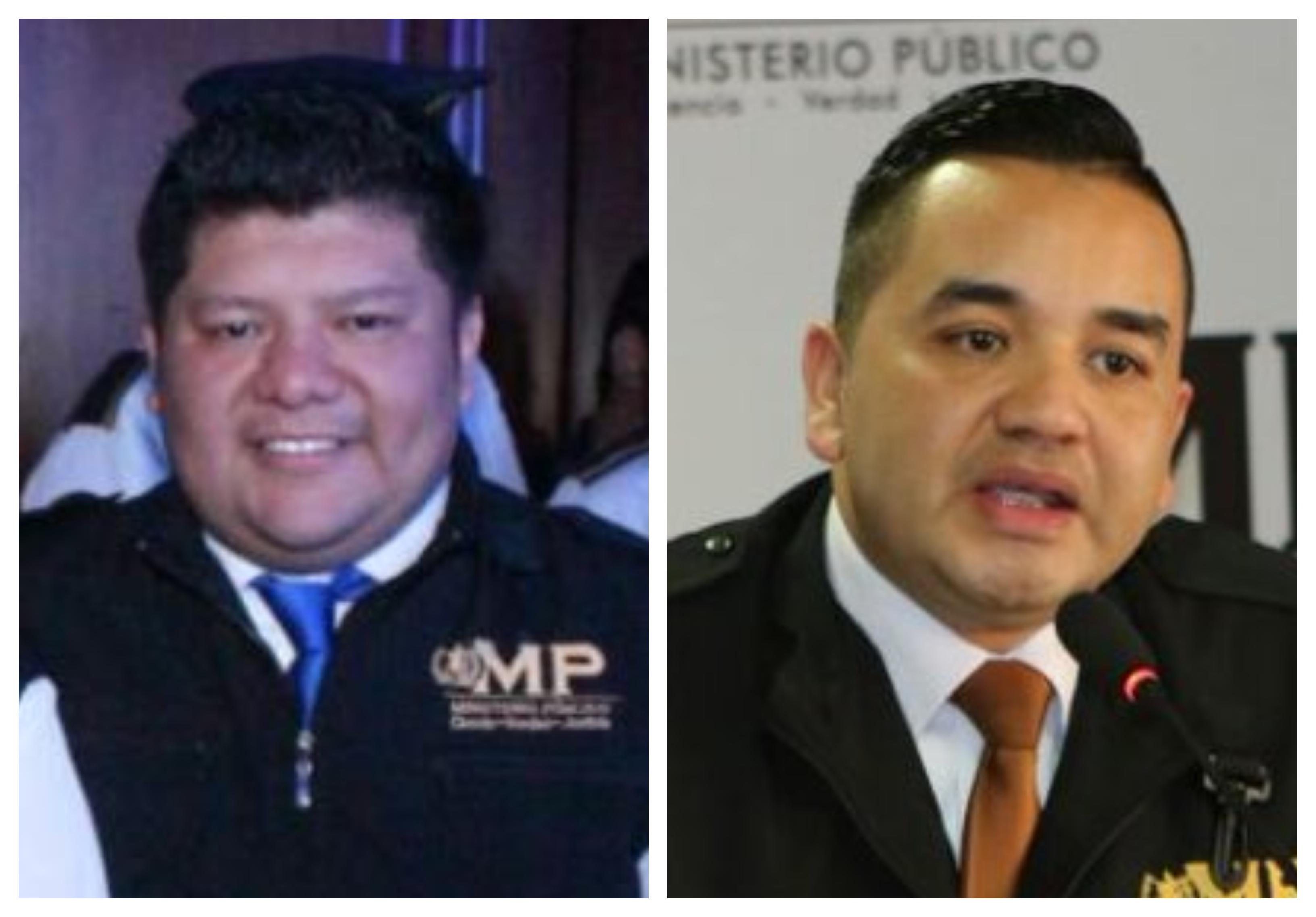 Brenner López y Melvin Silvestre, jefe y jefe adjunto de la Fiscalía de Delitos Económicos. (Foto Prensa Libre: Hemeroteca PL)