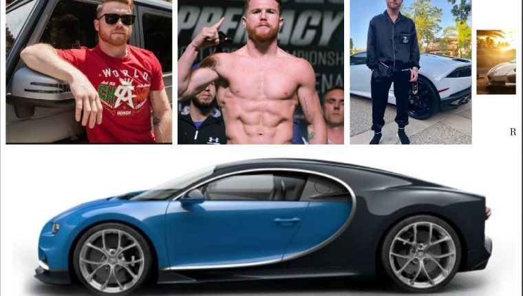 El boxeador mexicano agregó recientemente un Bugatti a su colección de vehículo de lujo. (Foto redes).