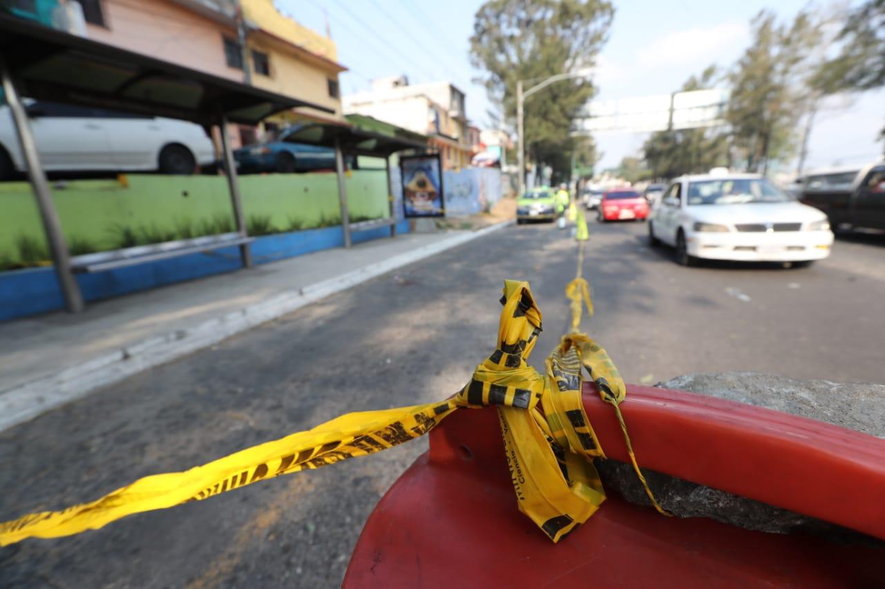 Lugar donde fueron baleados los migrantes hondureños, en el Anillo Periférico y zona 7 capitalina. (Foto Prensa Libre: Hemeroteca PL)