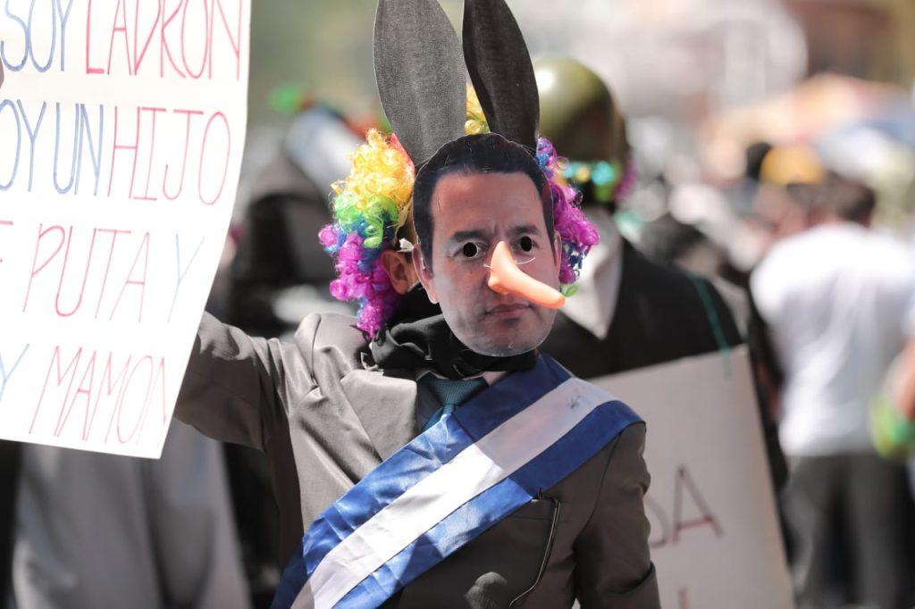 Una de las figuras más criticadas es la del presidente Jimmy Morales. Foto Prensa Libre. Juan Diego González