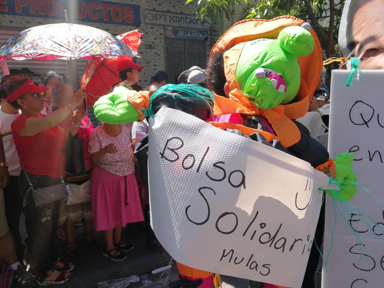 Los estudiantes también criticaron los ofrecimientos políticos. Foto Prensa Libre: Juan Diego González