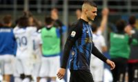 Milan (Italy), 07/04/2019.- Inter Milan's Mauro Icardi reacts after the Italian Serie A soccer match between FC Inter and Atalanta BC at 'Giuseppe Meazza' stadium in Milan, Italy, 07 April 2019. (Italia) EFE/EPA/MATTEO BAZZI