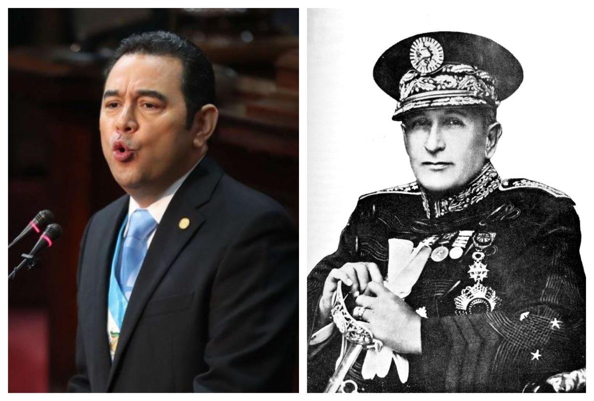 Por qué el ministro de Comunicaciones comparó a Jimmy Morales con Jorge Ubico