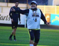 Diego Armando Maradona peleará por segunda ocasión el título en la Liga de Ascenso. (Foto Club Dorados).