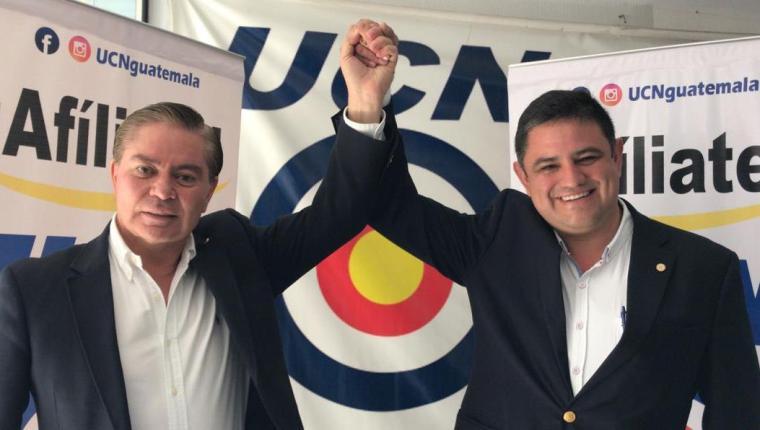 Mario Estrada y Javier Castillo son los candidatos a presidente y vicepresidente por la UCN. (Foto Prensa Libre: Hemeroteca PL)