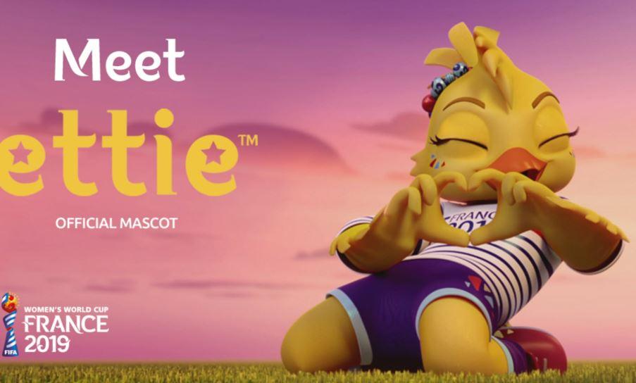 Meet ettie es la mascota del Mundial Femenino de Francia, que comenzará el 7 de junio próximo. (Foto Fifa).