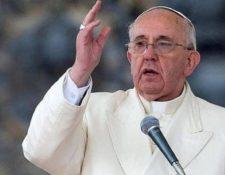 Papa Francisco. (Foto Prensa Libre: EFE)
