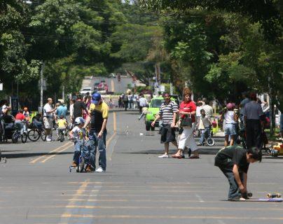 En Pasos y Pedales en el Obelisco zona 10 se llevarán a cabo actividades por el Día Mundial de la Salud. (Foto Prensa Libre: Hemeroteca PL)