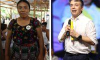Thelma Cabrera y Edwin Escobar, candidatos presidenciales proclamados por el MLP y PC. (Foto Prensa Libre: Hemeroteca PL)