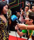 Yalitza Aparicio se presenta en el Festival de Cine de Panamá.  (Foto Prensa Libre: Luis ACOSTA / AFP).