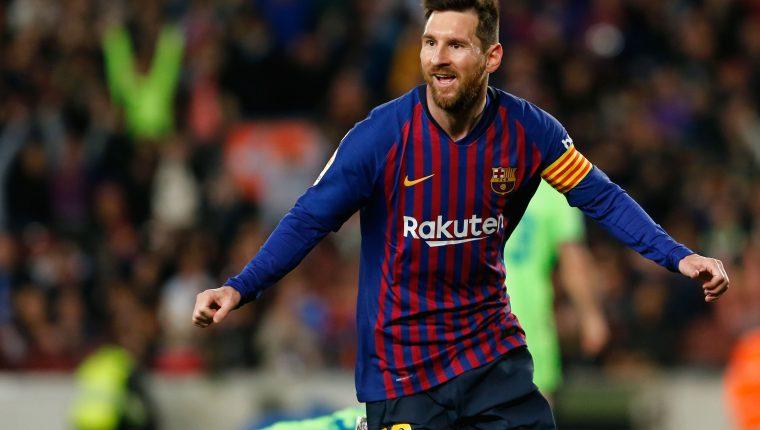 Lionel Messi fue el máximo goleador de las ligas europeas en la temporada 2018-2019. (Foto Prensa Libre: AFP)