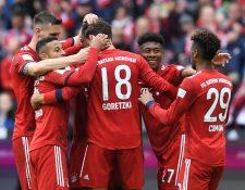 El Bayern Múnich sigue en ruta al título de la liga alemana. (Foto Prensa Libre: AFP)