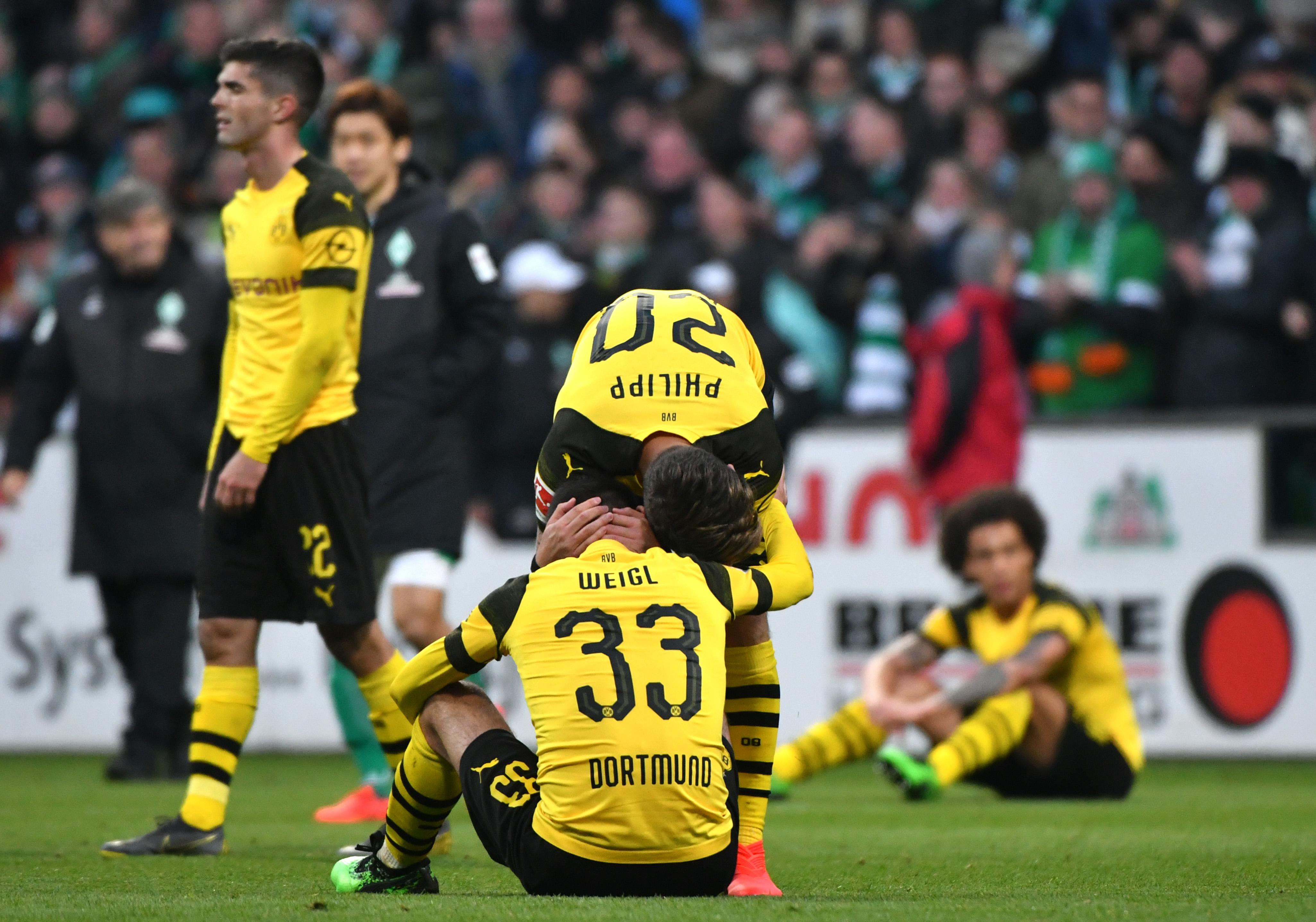 El Borussia Dortmund le ha dicho adiós al sueño del título de la Bundesliga. (Foto Prensa Libre: AFP)