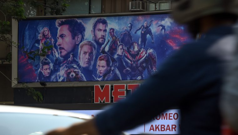 La película Avengers End Game arrasa por tercera semana consecutiva en la taquilla de Estados Unidos. (Foto Prensa Libre: AFP)