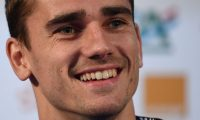 (FILES) In this file photo taken on July 13, 2018 France's forward Antoine Griezmann holds a press conference in Istra, two days before the Russia 2018 World Cup final football match between France and Croatia. - French striker Antoine Griezmann has told Atletico Madrid he will leave them in the close season, the Spanish club said on Twitter on May 14, 2019. The 28-year-old Griezmann has a contract until 2023 with Atletico, but has a buy out clause of 120million euros ($134million) and has been the target of several approaches from La Liga rivals Barcelona. (Photo by FRANCK FIFE / AFP)