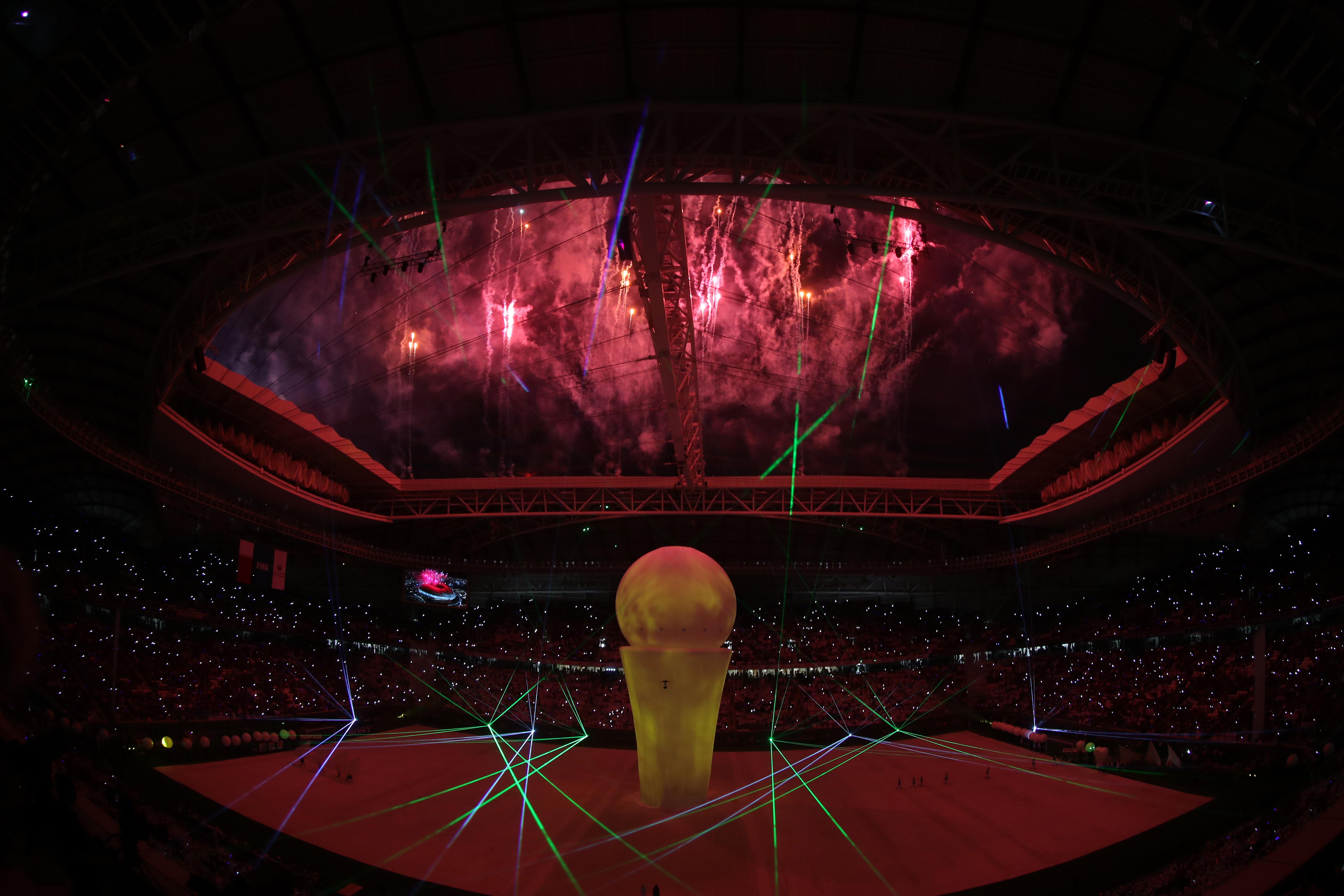 Ceremonia de inauguración del estadio Al Wakrah que será una de las sedes del Mundial Qatar 2022. (Foto Prensa Libre: AFP)