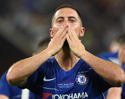 Eden Hazard anotó un doblete en la final de la Europa League contra el Arsenal. (Foto Prensa Libre: AFP)