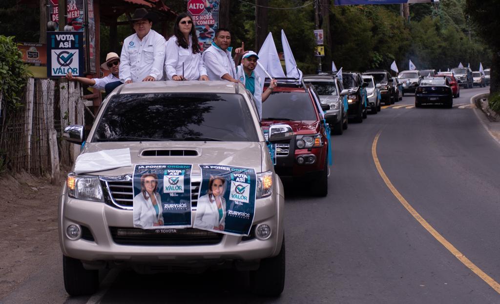 El partido Valor estuvo presente en la provincia en las últimas semanas, para promocionar a su binomio presidencial. (Foto Prensa Libre: Cortesía)
