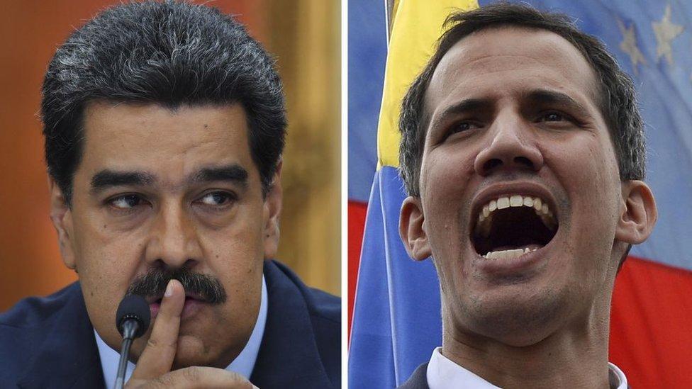 Tanto Nicolás Maduro como Juan Guaidó se asumen como presidentes de Venezuela.