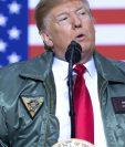 El presidente Donald Trump ha reiterado su apoyo a Juan Guaidó. GETTY IMAGES