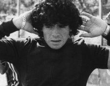 Diego Armando Maradona en 1977, época en la que formaba parte de Argentinos Juniors.