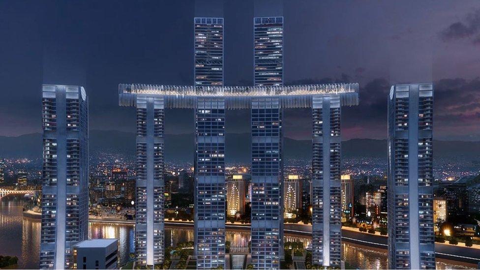 Cómo es The Crystal, el rascacielos horizontal más alto del mundo