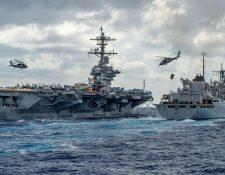 Estados Unidos ha desplegado un grupo de ataque de portaaviones en el Golfo. AFP
