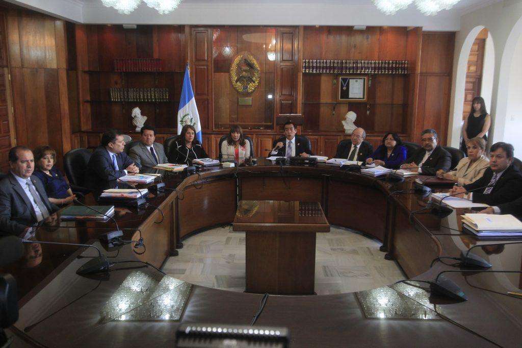 El próximo 13 de octubre vence el plazo para el que fueron electos los magistrados de la Corte Suprema de Justicia (Foto Prensa Libre: Hemeroteca PL)