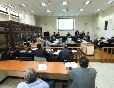 Diez personas son juzgadas por el Tribunal de Mayor Riesgo B. (Foto Prensa Libre: Hemeroteca PL)
