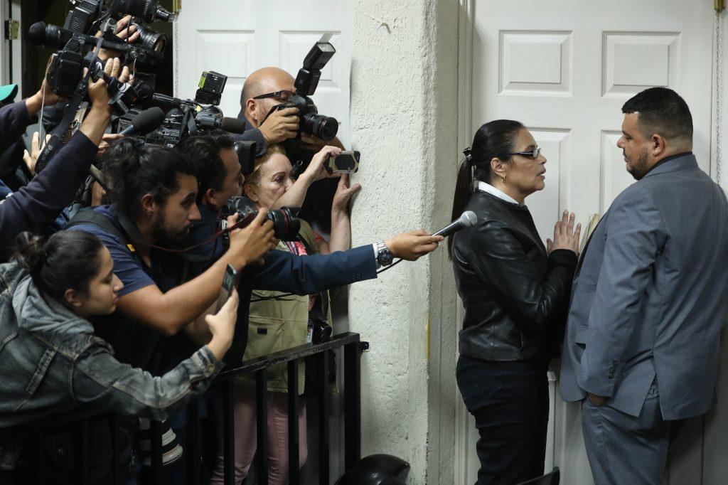 El 10 de octubre de 2018 después de 17 horas la ex presidenta fue sentenciada a 15 años de prisión por el caso Agua Mágica. Foto Prensa Libre