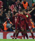 Los jugdores del Liverpool celebran su clasificación a la final de la Champions League. (Foto Prensa Libre: EFE)