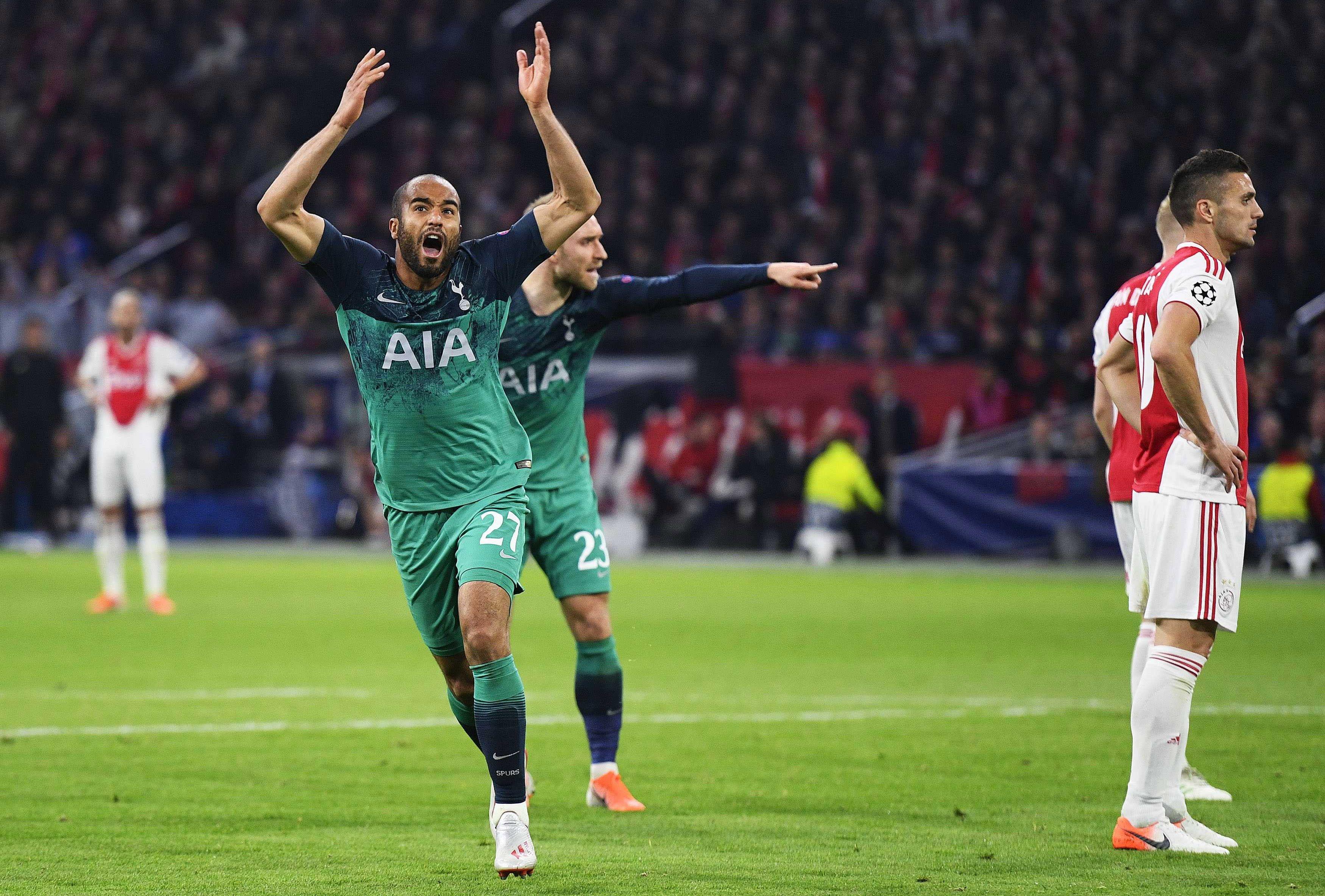 El brasileño Lucas Moura anotó el triplete para clasificar al Tottenham a la final. (Foto Prensa Libre: EFE)