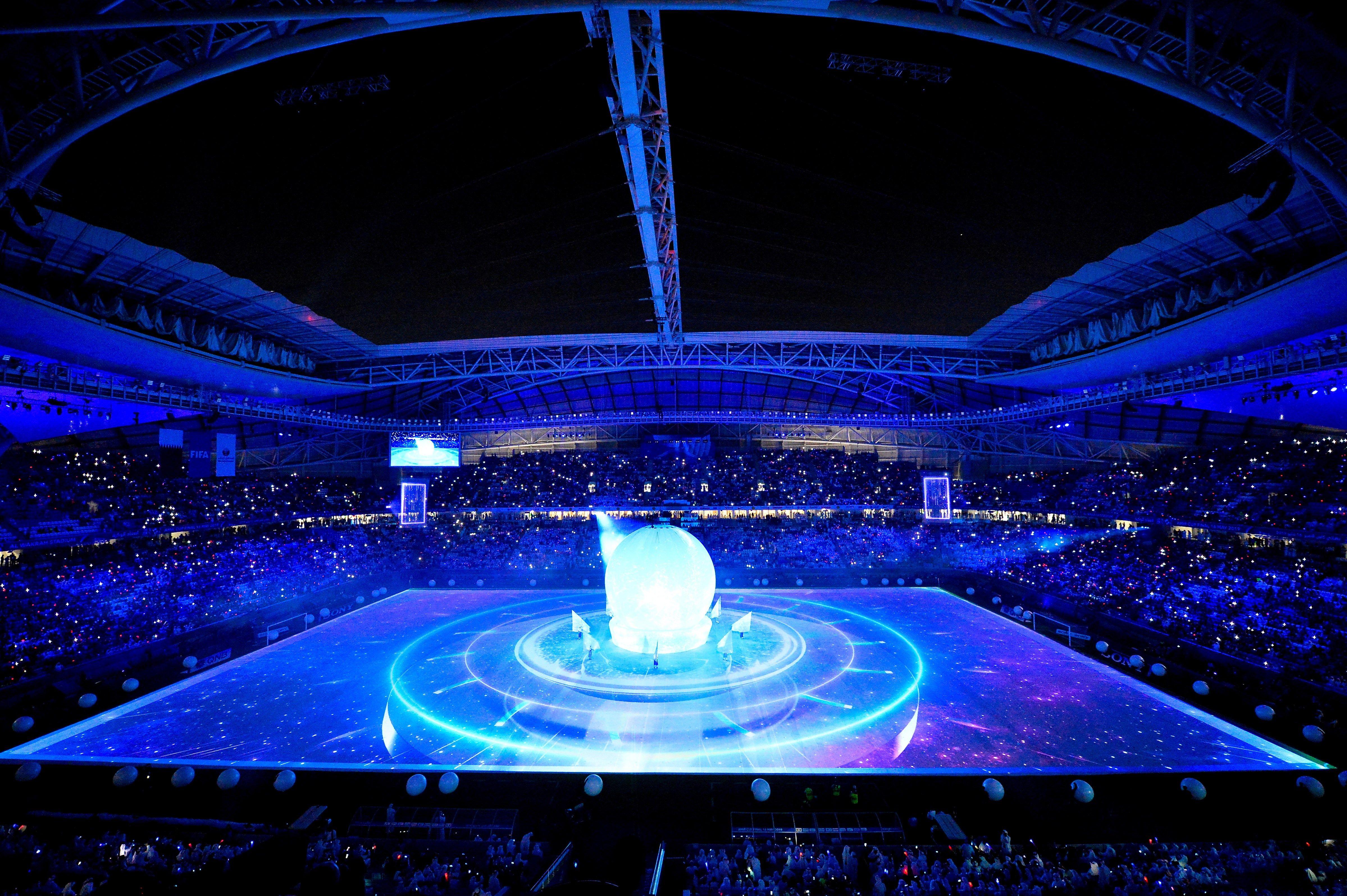 Ceremonia inaugural del estadio Al Wakrah para la Copa Mundial de al FIFA 2022, en Doha, Qatar. (Foto Prensa Libre: Hemeroteca PL)