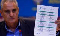 AME3627. RIO DE JANEIRO (BRASIL), 17/05/2019.- El seleccionador brasileño, Tite, anuncia hoy, viernes la lista de convocados para la Copa América 2019, que se disputará en junio y julio próximo en Brasil durante un evento en Río de Janeiro. Los delanteros Neymar y Philippe Coutinho fueron incluidos en la lista de 23 convocados por el seleccionador brasileño, para la Copa América que Brasil organizará a partir del 14 de junio y en la que espera confirmar la tradición de coronarse campeón siempre que ejerce como anfitrión. EFE/ANTONIO LACERDA