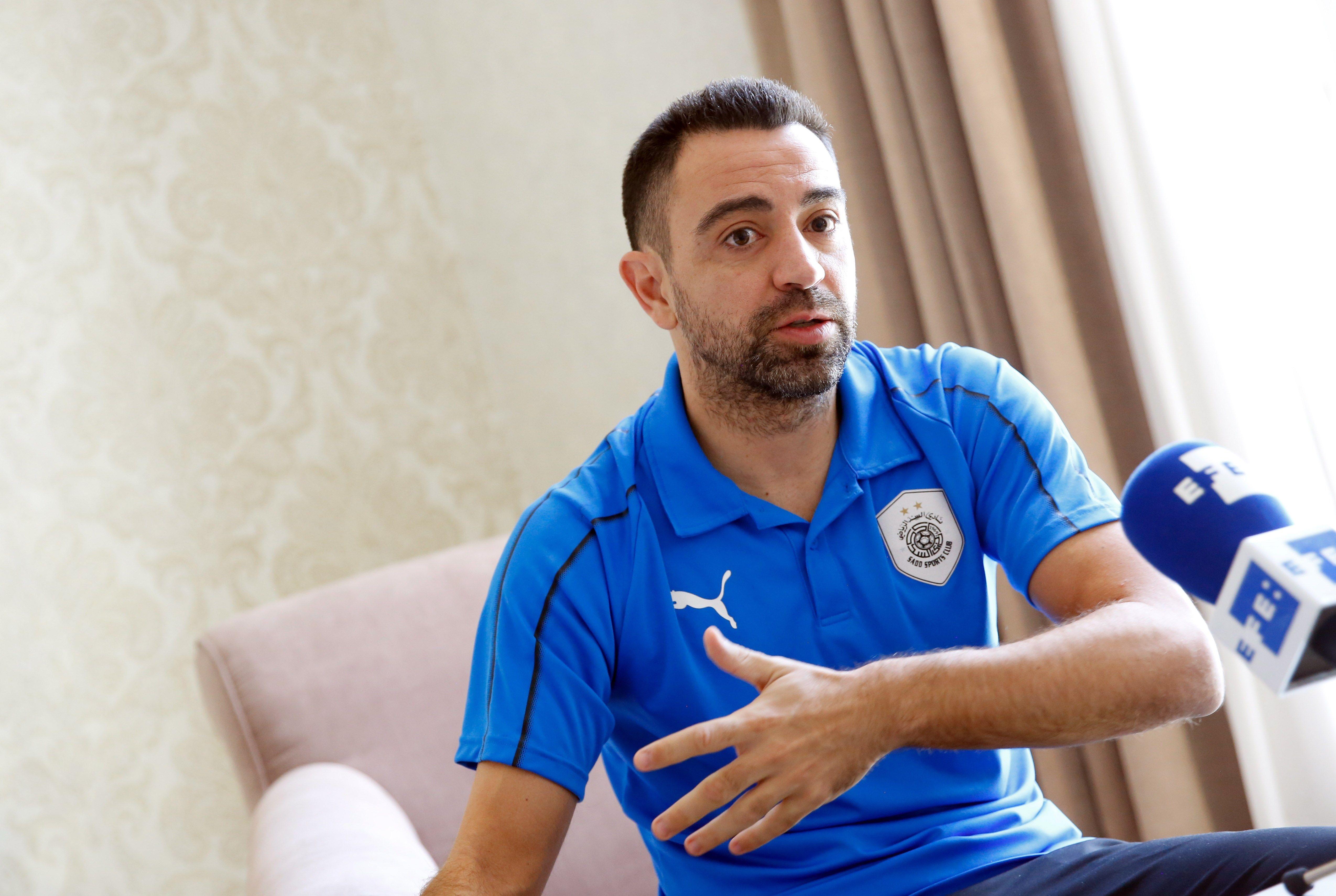 El excapitán del FC Barcelona y actual jugador del club qatarí Al Sadd SC, se despide del futbol ilusionado con entrenar algún al Barcelona. (Foto Prensa Libre: EFE)